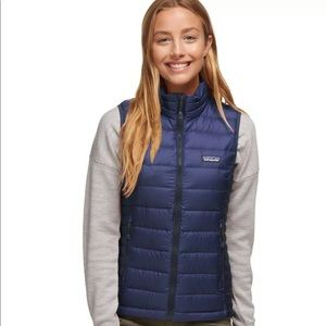 NWT XS Patagonia Blue Down Sweater Vest